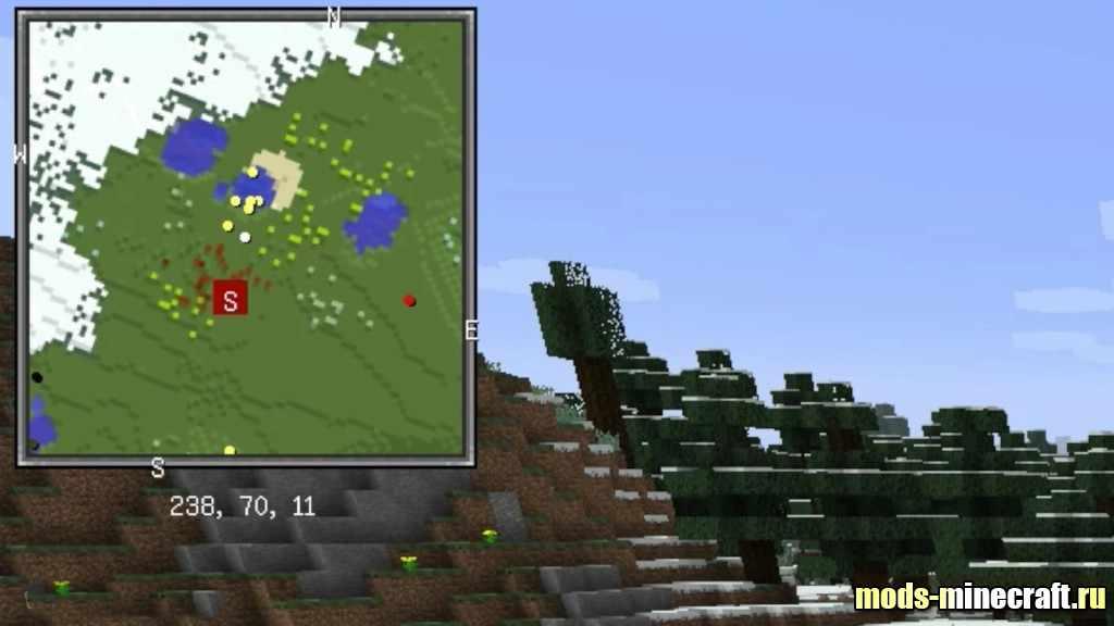 мод для майнкрафт на метки на карту 1 7 10 #6