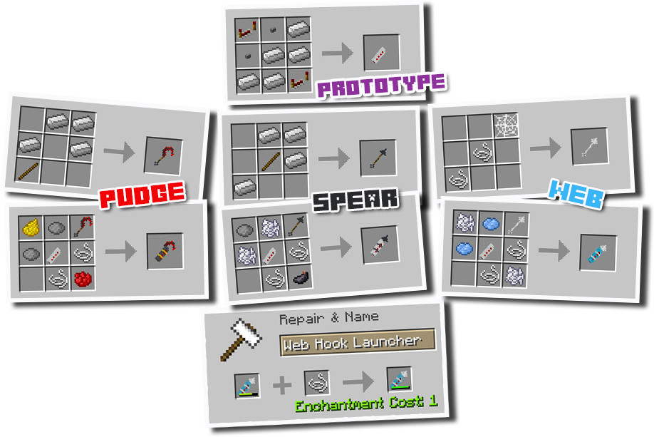 Advanced Hook Launchers [1.12.2] [1.11.2] [1.10.2] [1.7.10]
